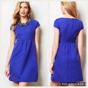 Anthropologie Royal Blue Empress Shirt Dress